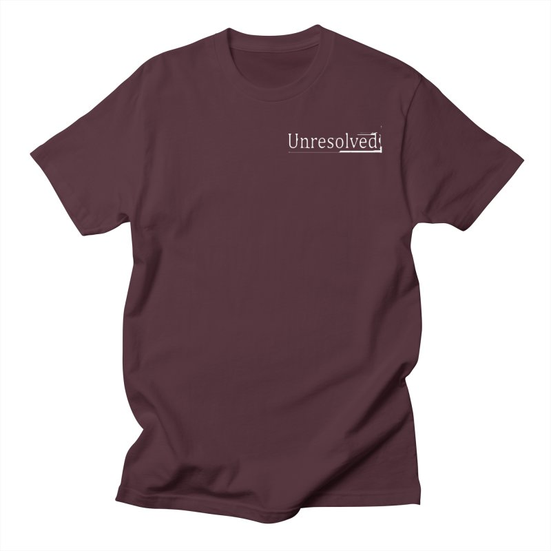 Unresolved (White Alternate) Men's Regular T-Shirt by Unresolved Shop