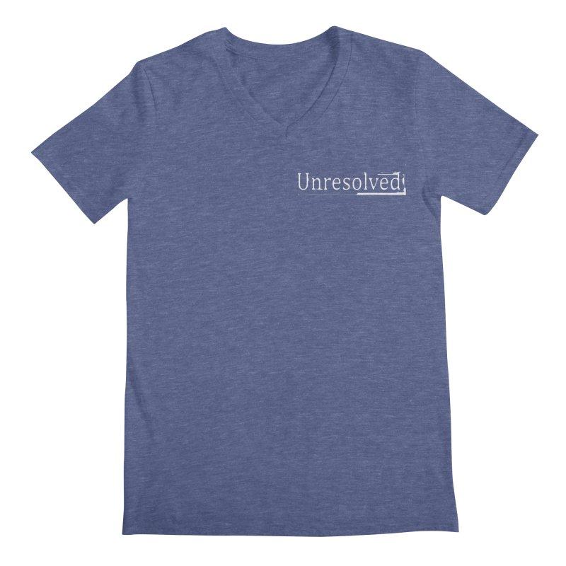 Unresolved (White Alternate) Men's Regular V-Neck by Unresolved Shop