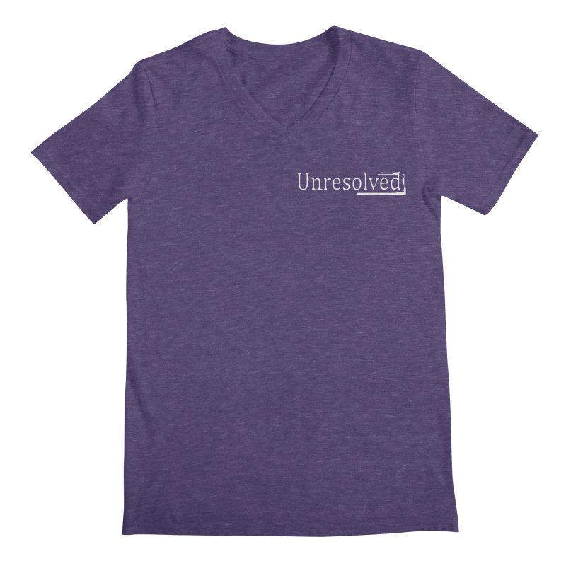 Unresolved (White Alternate) Men's Regular V-Neck by Unresolved Shop