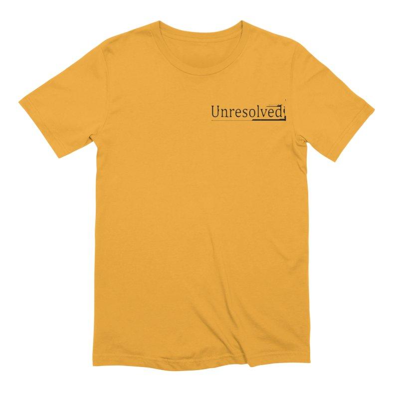 Unresolved (Black Alternate) Men's Extra Soft T-Shirt by Unresolved Shop
