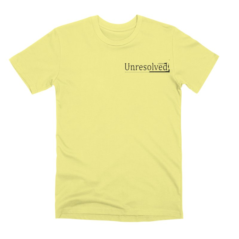 Unresolved (Black Alternate) Men's Premium T-Shirt by Unresolved Shop
