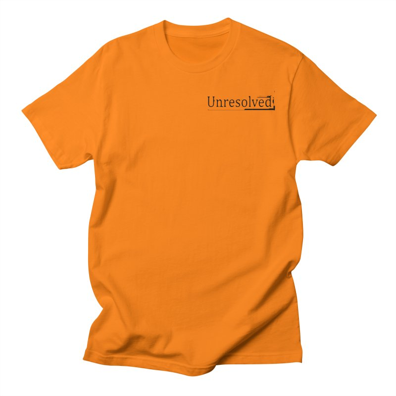 Unresolved (Black Alternate) Men's Regular T-Shirt by Unresolved Shop