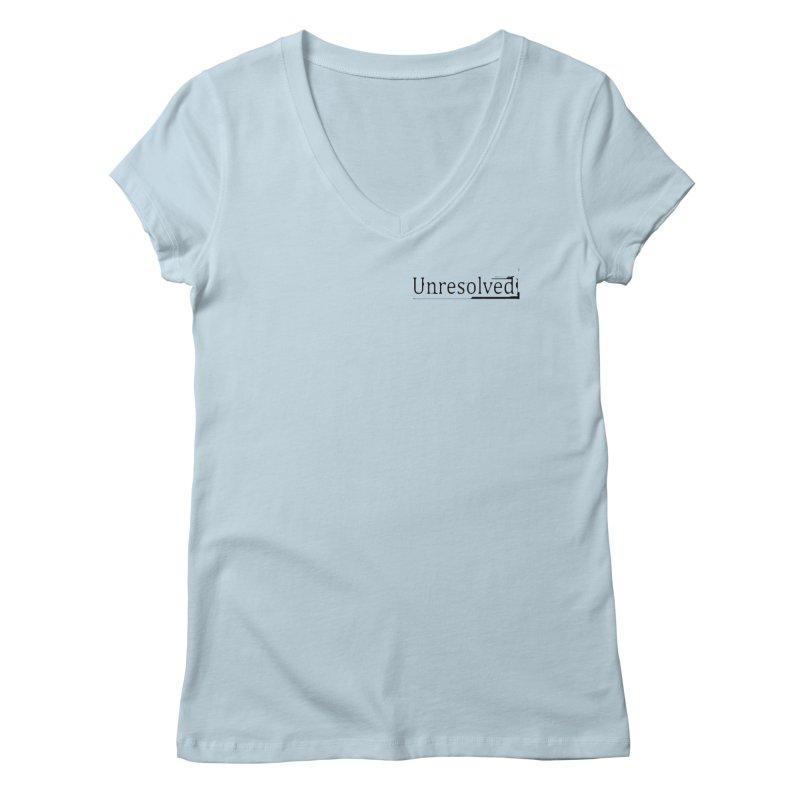 Unresolved (Black Alternate) Women's Regular V-Neck by Unresolved Shop