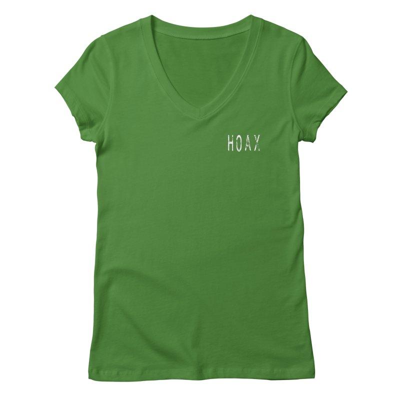 Hoax Women's Regular V-Neck by Unresolved Shop