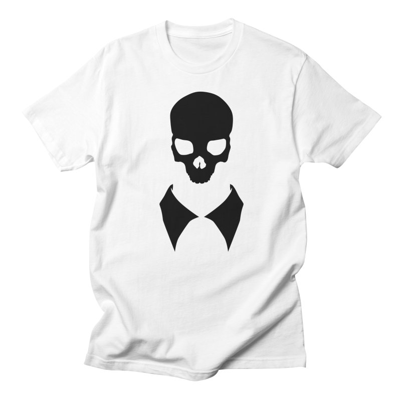 CLASSIC SKULL COLLAR TEE (BLACK) Men's T-Shirt by unrulygent's Artist Shop