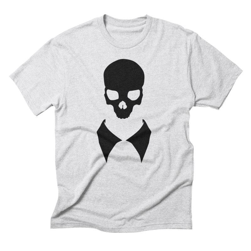 CLASSIC SKULL COLLAR TEE (BLACK) Men's Triblend T-Shirt by unrulygent's Artist Shop