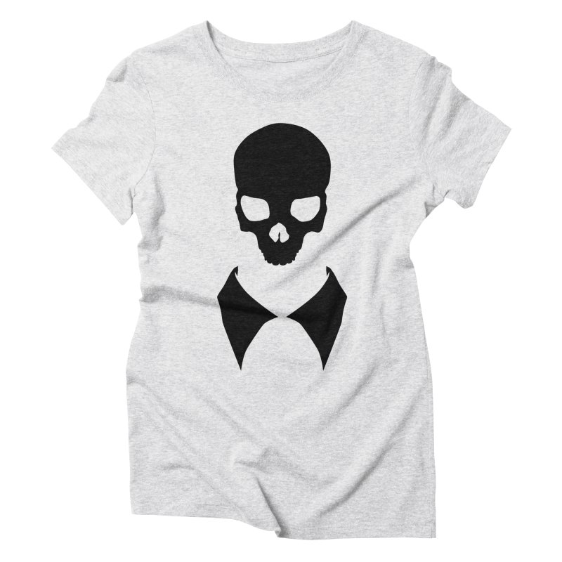 CLASSIC SKULL COLLAR TEE (BLACK) Women's Triblend T-Shirt by unrulygent's Artist Shop