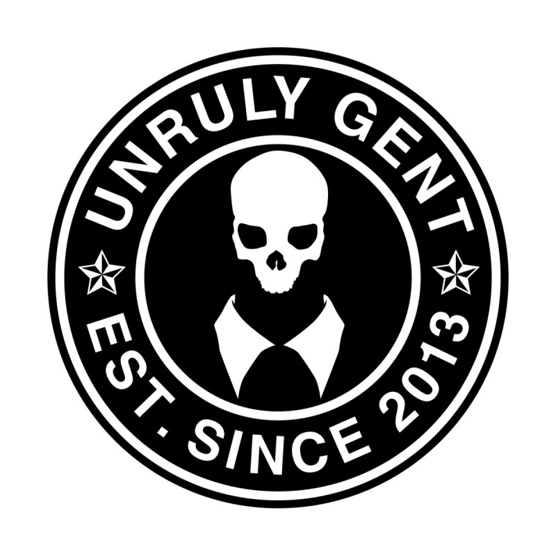 BASIC LOGO TEE (BLACK) Men's T-Shirt by unrulygent's Artist Shop