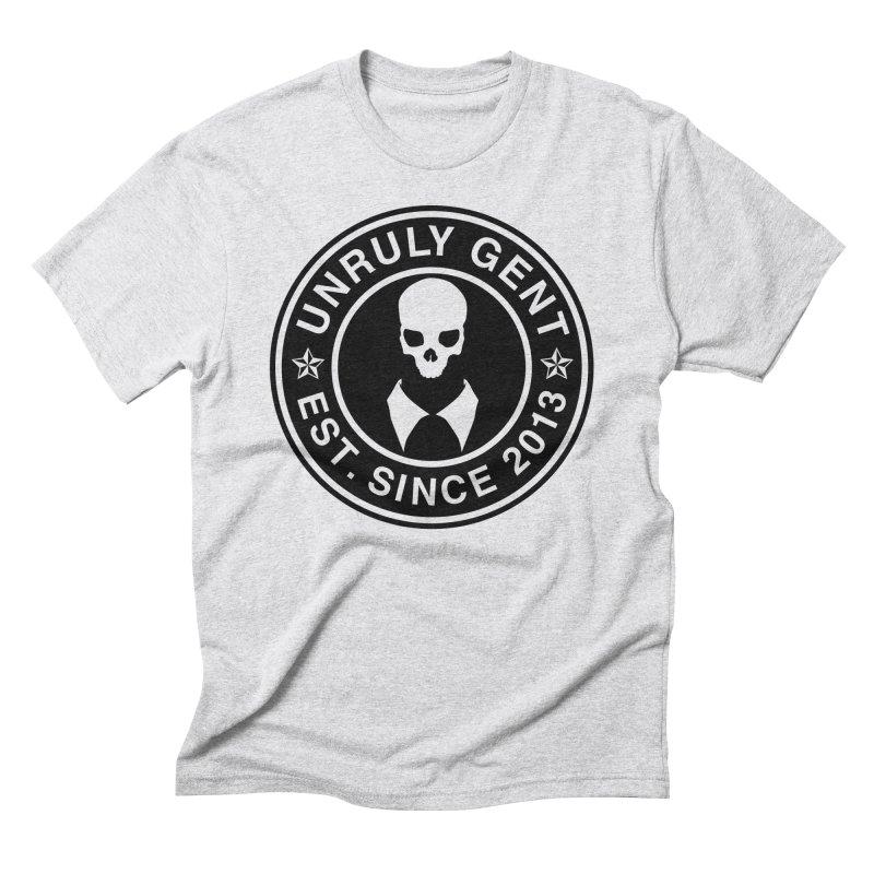 BASIC LOGO TEE (BLACK) Men's T-Shirt by unrulygent's Artist Shop