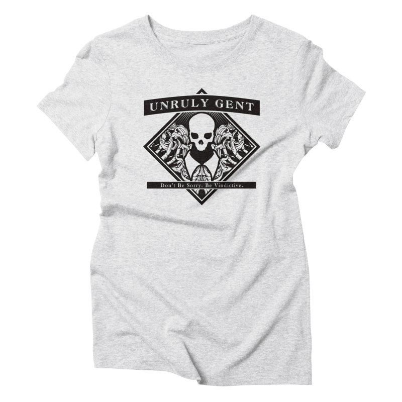 DIAMOND TEE (BLACK) Women's T-Shirt by unrulygent's Artist Shop