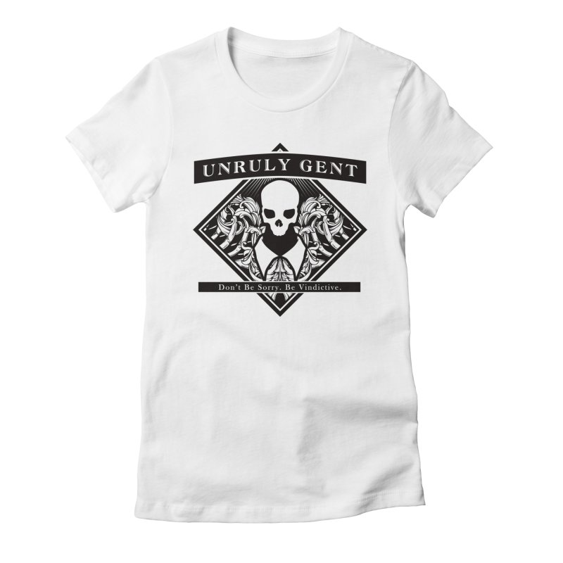 DIAMOND TEE (BLACK) Women's Fitted T-Shirt by unrulygent's Artist Shop
