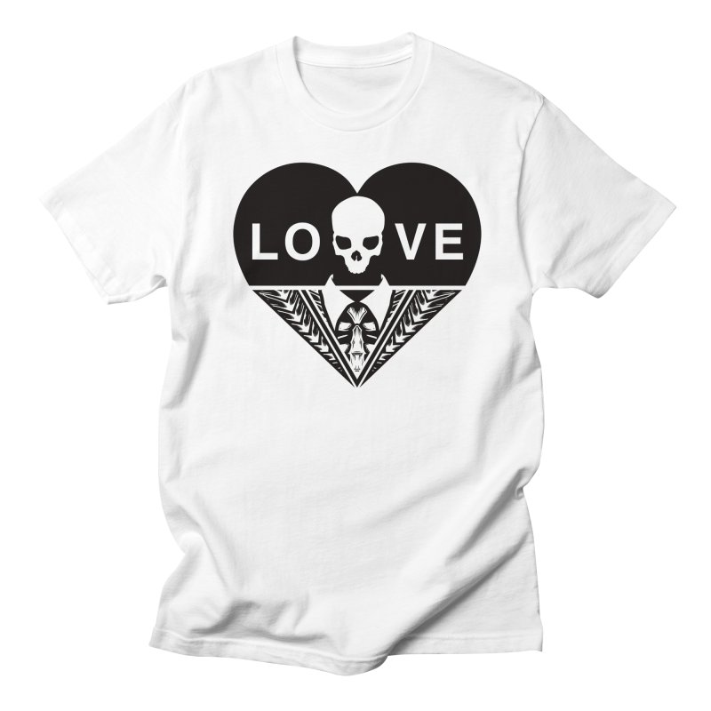 HEART LOVE TEE (BLACK) Men's Regular T-Shirt by unrulygent's Artist Shop