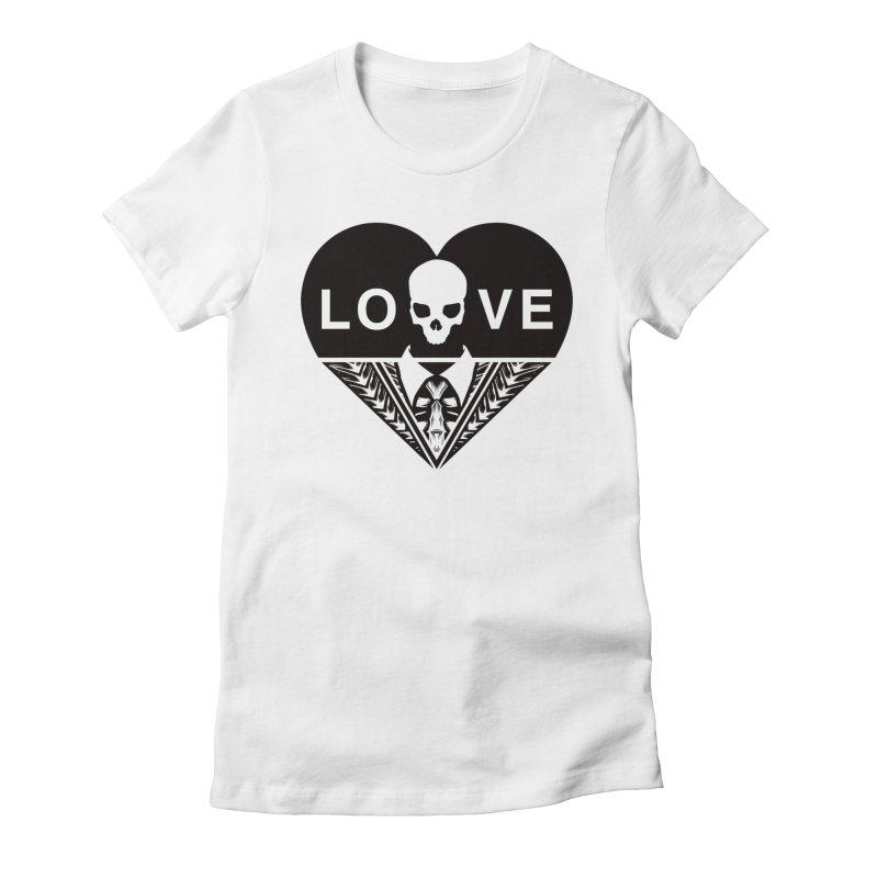 HEART LOVE TEE (BLACK) Women's T-Shirt by unrulygent's Artist Shop
