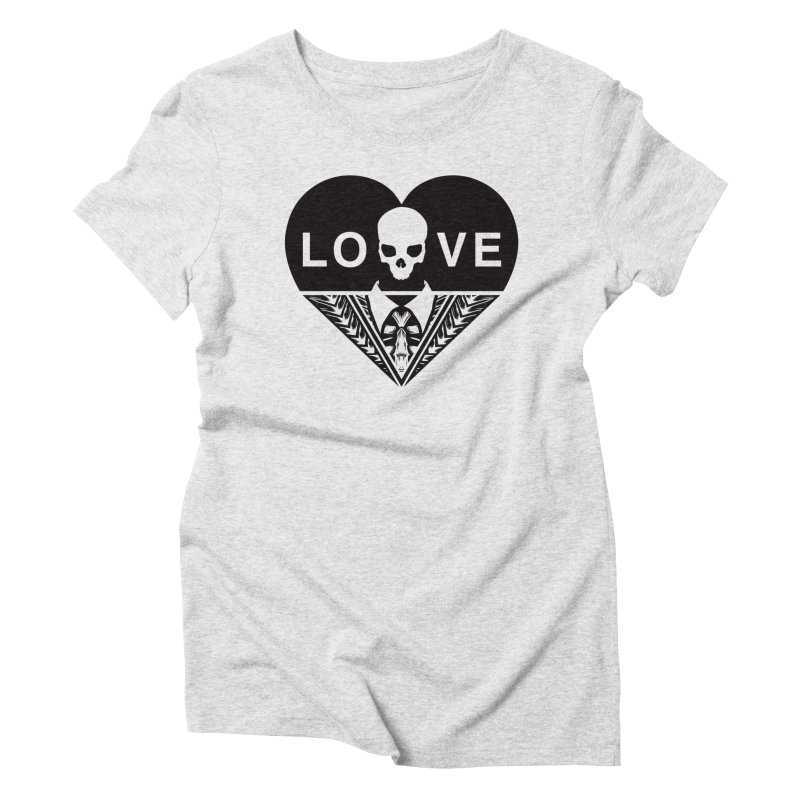 HEART LOVE TEE (BLACK) Women's T-Shirt by unrulygent's Artist Shop