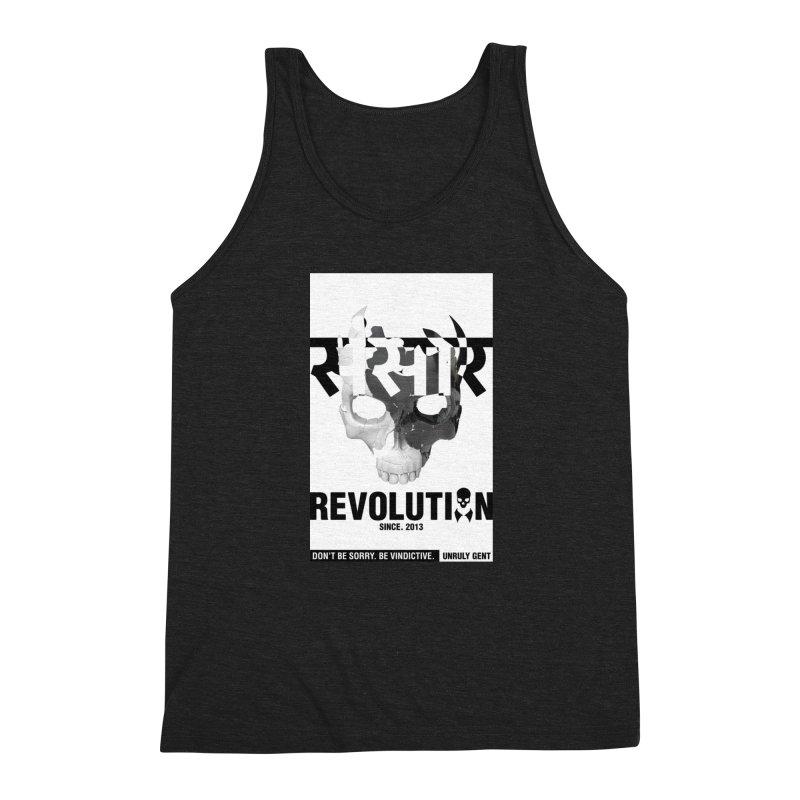 WORLD REVOLUTION (onBLACK) Men's Tank by unrulygent's Artist Shop