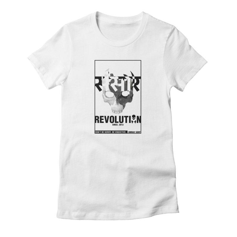 WORLD REVOLUTION (onWHITE) Women's T-Shirt by unrulygent's Artist Shop