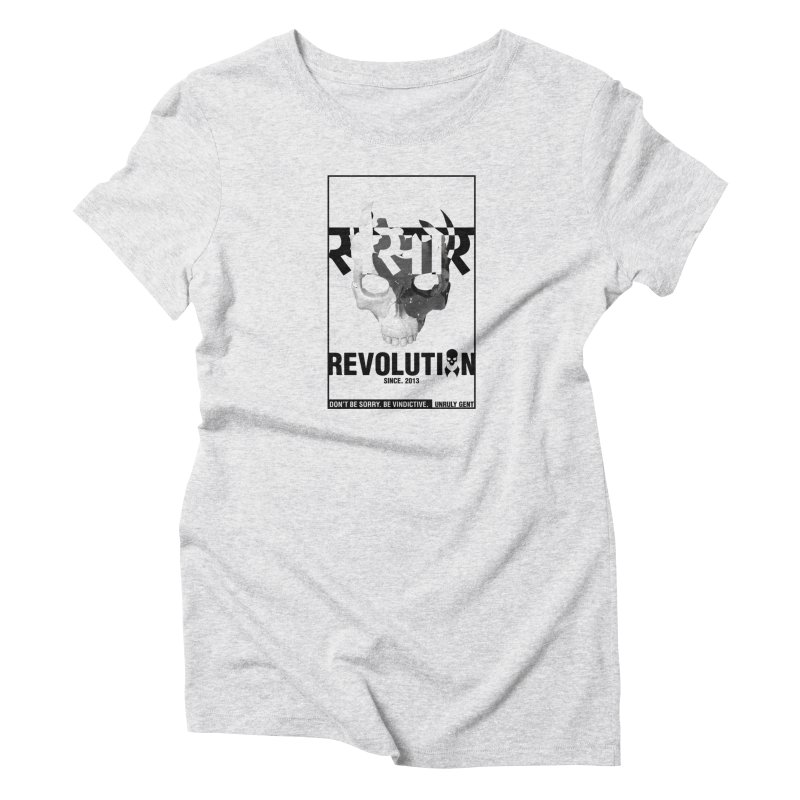 WORLD REVOLUTION (onWHITE) Women's T-Shirt by unrulygent's Artist Shop