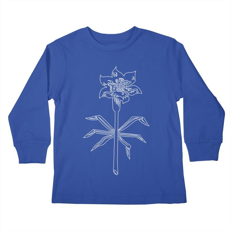 Saskatchewan Provincial Flower Kids Longsleeve T-Shirt by asingleline