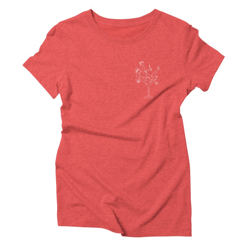 Cocktail Lady Women's Triblend T-shirt by asingleline