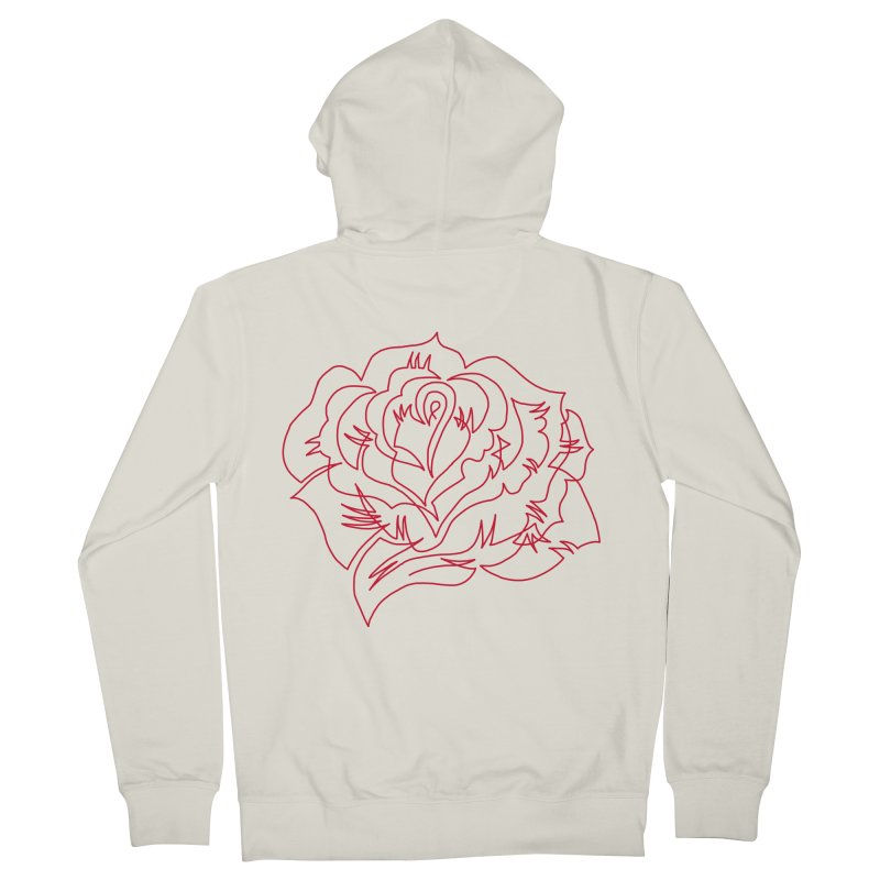 Rose Women's Zip-Up Hoody by asingleline