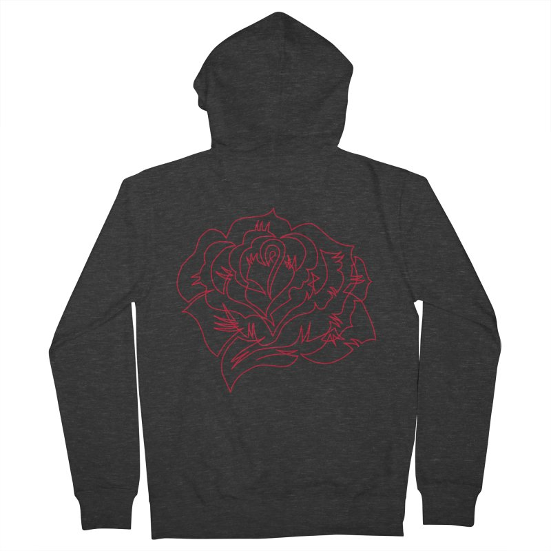 Rose Men's French Terry Zip-Up Hoody by asingleline