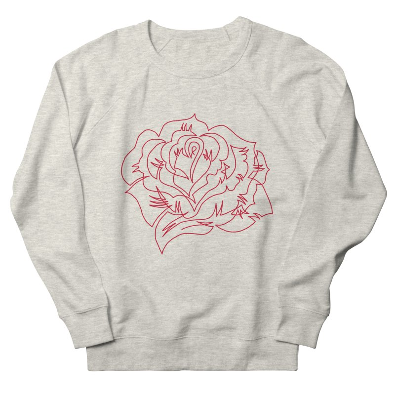 Rose Men's French Terry Sweatshirt by asingleline