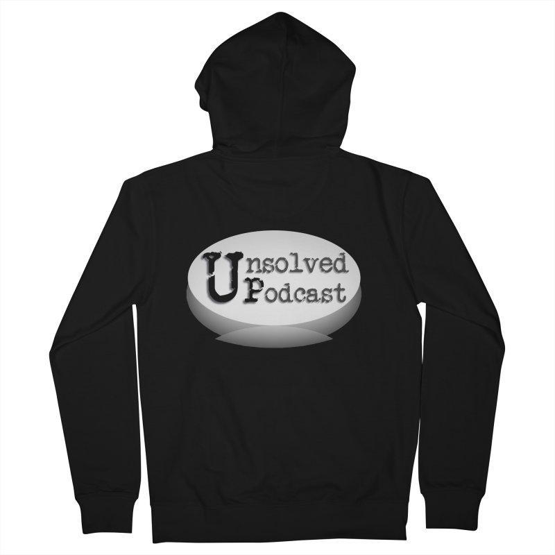 Logo Shirts - Black Men's Zip-Up Hoody by Unsolved Podcast Gear Shop