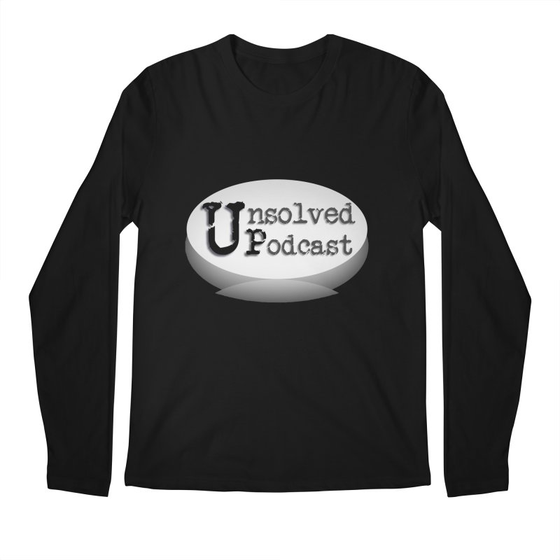 Logo Shirts - Black Men's Regular Longsleeve T-Shirt by Unsolved Podcast Gear Shop