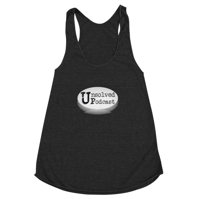 Logo Shirts - Black Women's Racerback Triblend Tank by Unsolved Podcast Gear Shop