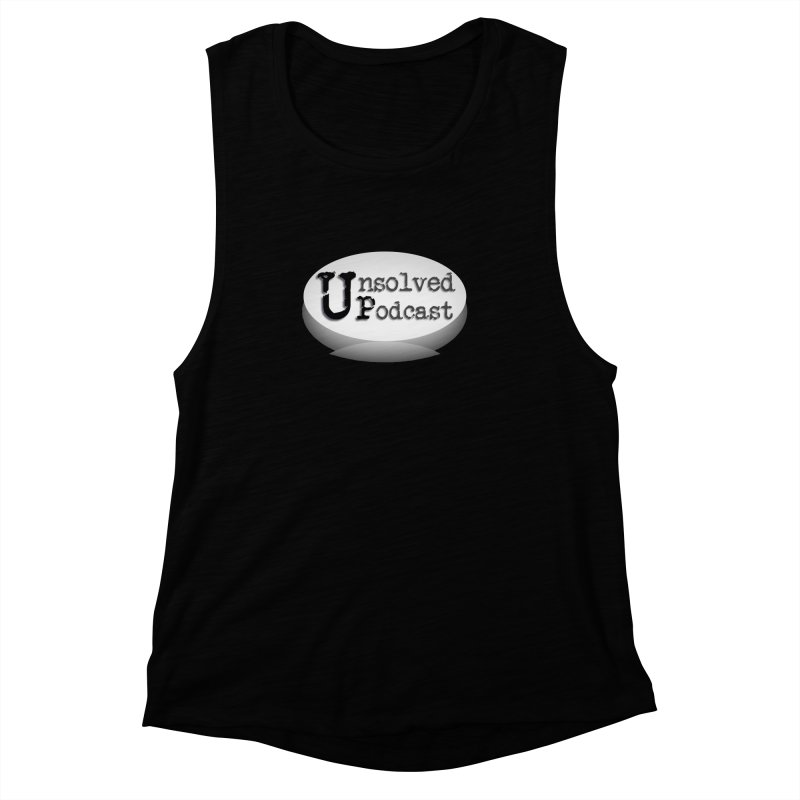 Logo Shirts - Black Women's Muscle Tank by Unsolved Podcast Gear Shop