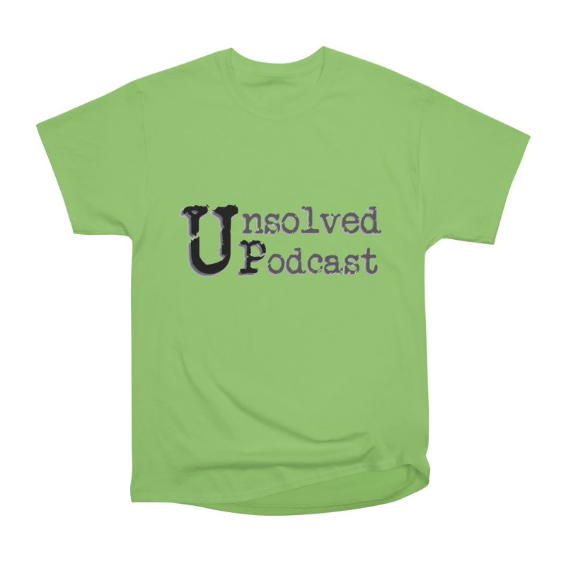 Logo Shirts - All Other Colors Men's Heavyweight T-Shirt by Unsolved Podcast Gear Shop