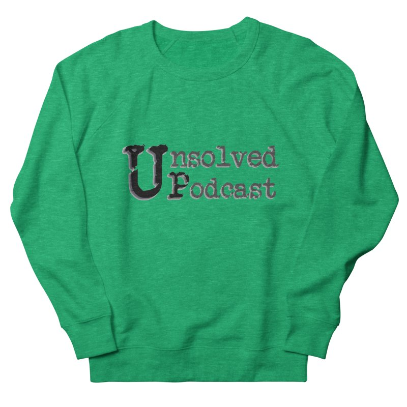 Logo Shirts - All Other Colors Women's French Terry Sweatshirt by Unsolved Podcast Gear Shop