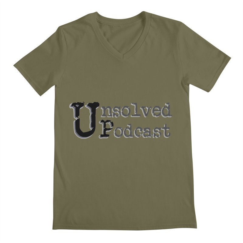 Logo Shirts - All Other Colors Men's Regular V-Neck by Unsolved Podcast Gear Shop