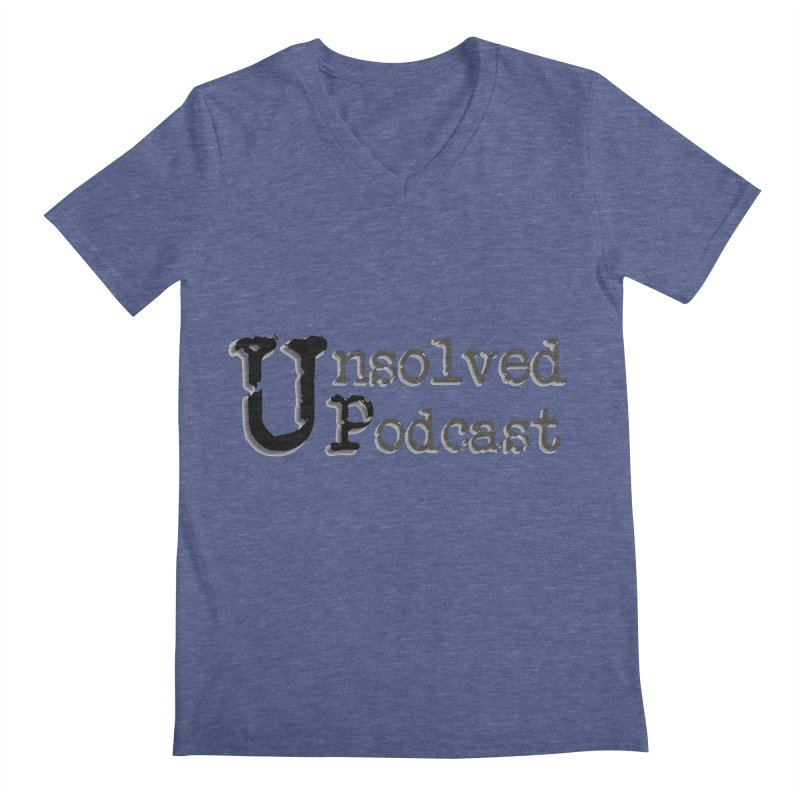 Logo Shirts - All Other Colors Men's V-Neck by Unsolved Podcast Gear Shop