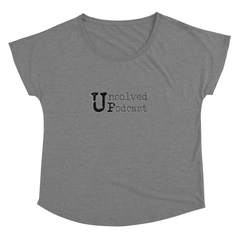 Logo Shirts - All Other Colors Women's Scoop Neck by Unsolved Podcast Gear Shop