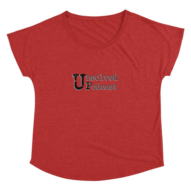 Logo Shirts - All Other Colors Women's Dolman Scoop Neck by Unsolved Podcast Gear Shop