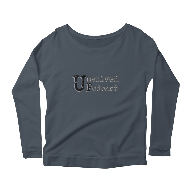 Logo Shirts - All Other Colors Women's Scoop Neck Longsleeve T-Shirt by Unsolved Podcast Gear Shop