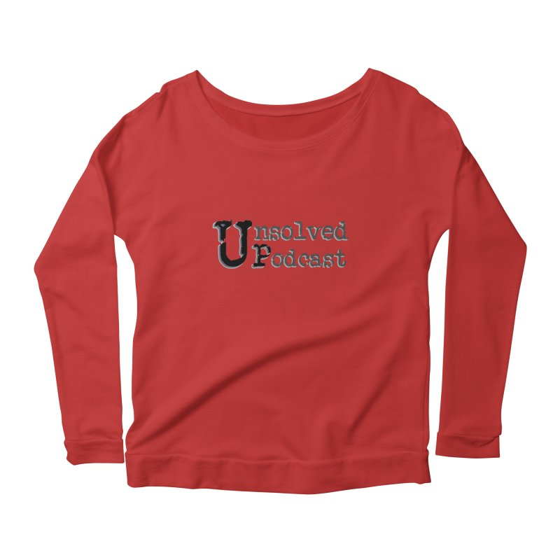 Logo Shirts - All Other Colors Women's Longsleeve Scoopneck  by Unsolved Podcast Gear Shop