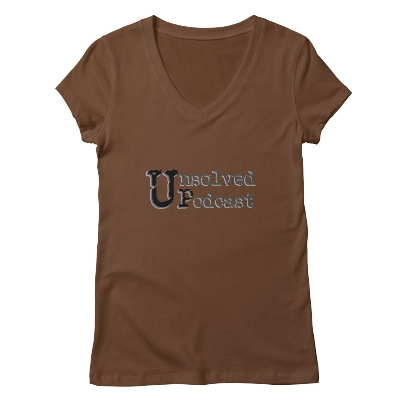 Logo Shirts - All Other Colors Women's V-Neck by Unsolved Podcast Gear Shop