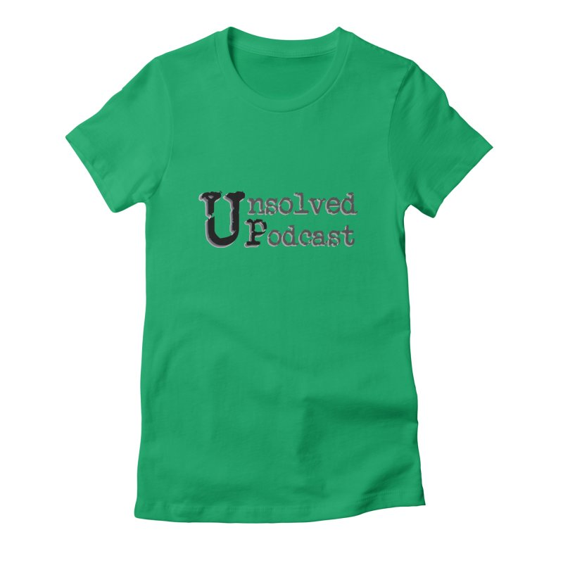 Logo Shirts - All Other Colors Women's Fitted T-Shirt by Unsolved Podcast Gear Shop