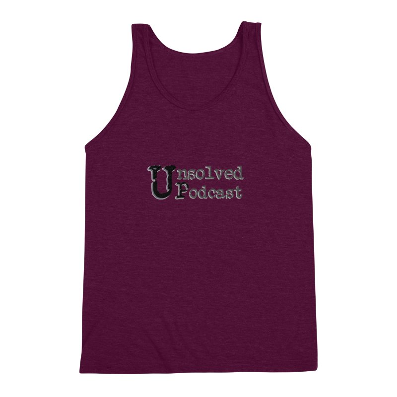 Logo Shirts - All Other Colors Men's Triblend Tank by Unsolved Podcast Gear Shop