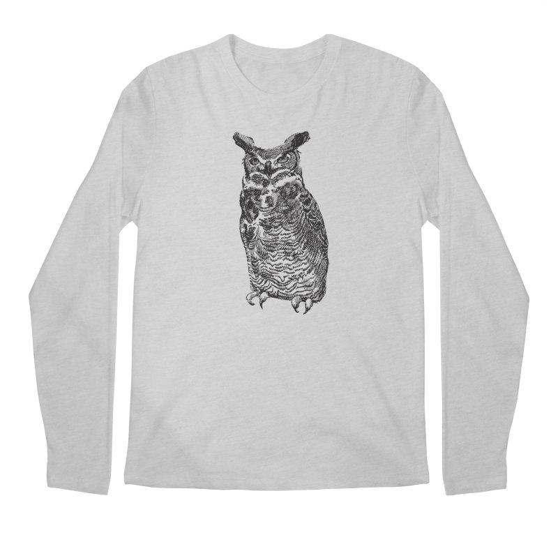 Enforcer Owl Men's Longsleeve T-Shirt by Unspeakable Records' Artist Shop