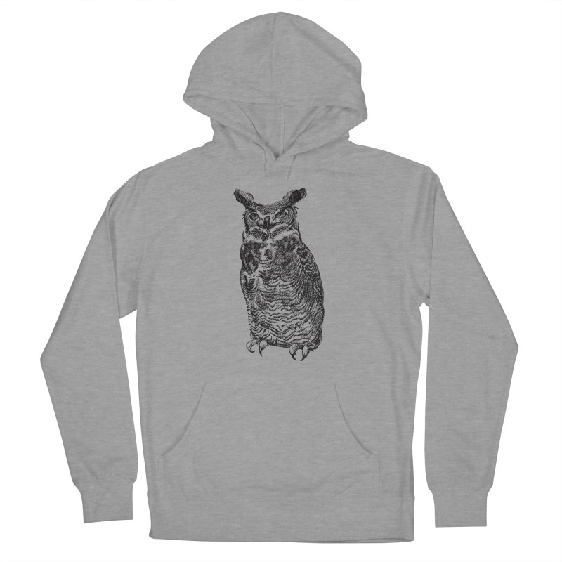 Enforcer Owl Men's French Terry Pullover Hoody by Unspeakable Records' Artist Shop