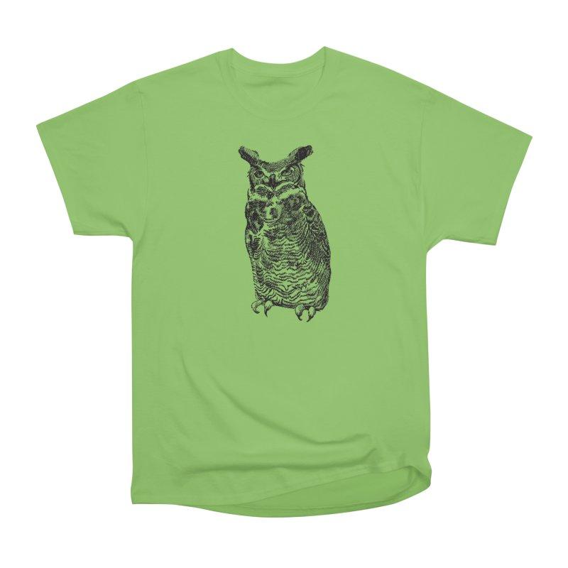 Enforcer Owl Women's Heavyweight Unisex T-Shirt by Unspeakable Records' Artist Shop
