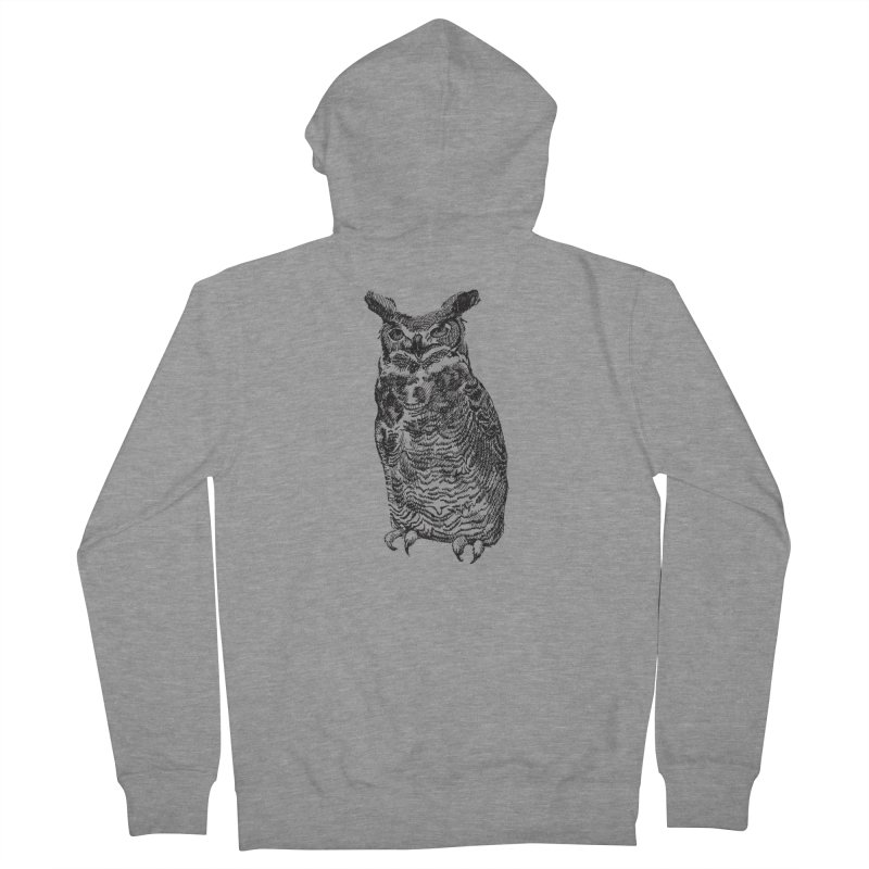 Enforcer Owl Men's French Terry Zip-Up Hoody by Unspeakable Records' Artist Shop