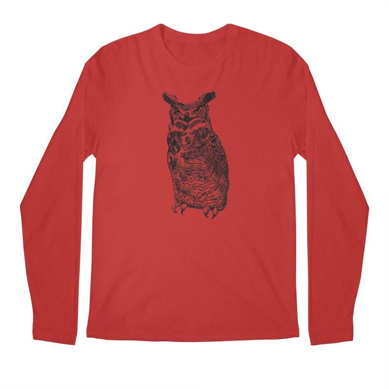 Enforcer Owl Men's Regular Longsleeve T-Shirt by Unspeakable Records' Artist Shop