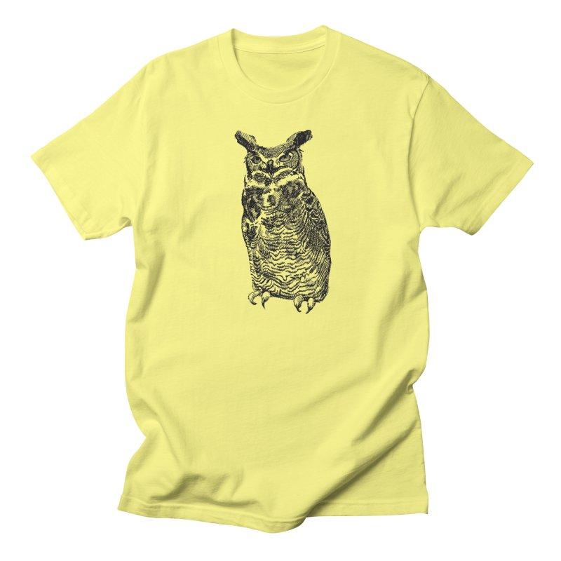 Enforcer Owl Men's Regular T-Shirt by Unspeakable Records' Artist Shop