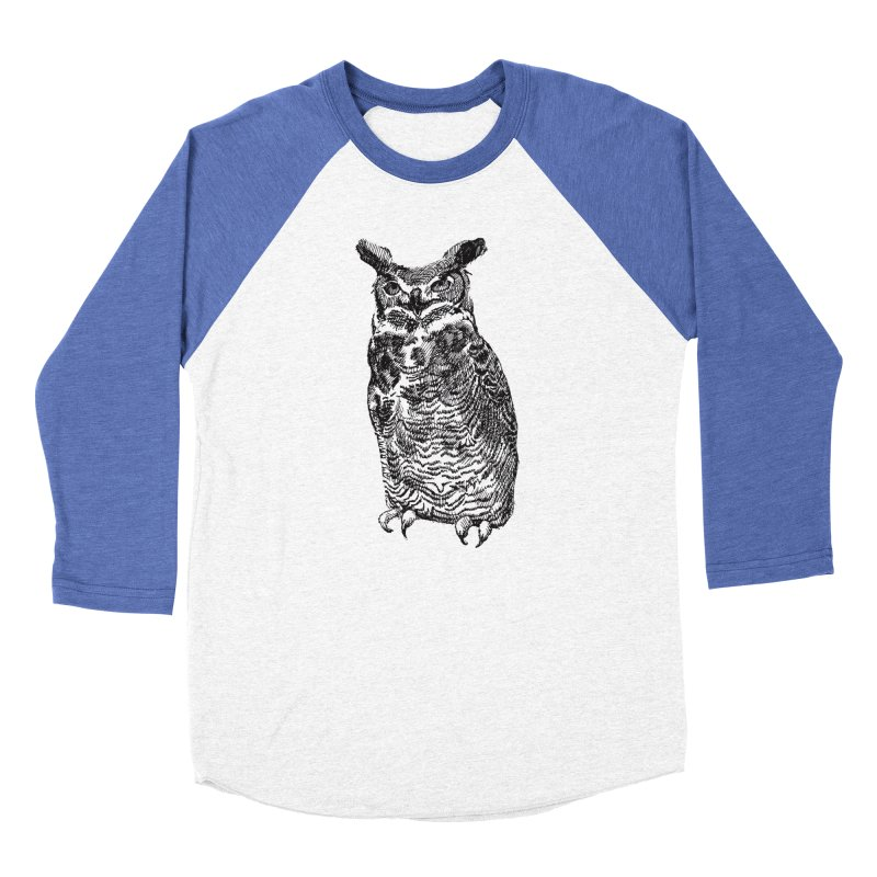 Enforcer Owl Women's Baseball Triblend Longsleeve T-Shirt by Unspeakable Records' Artist Shop