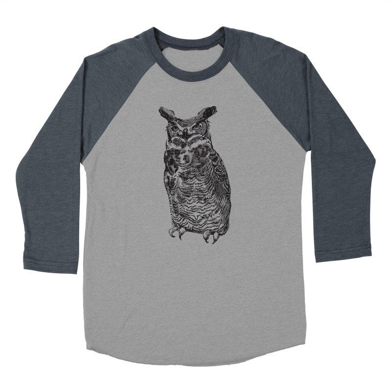 Enforcer Owl Women's Baseball Triblend Longsleeve T-Shirt by Unspeakable Records' Artist Shop