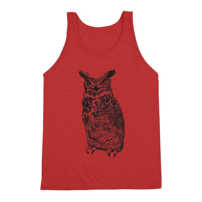 Enforcer Owl Men's Triblend Tank by Unspeakable Records' Artist Shop